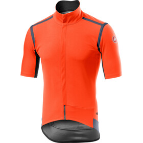 Castelli Gabba Rain Or Shine Kurzarm Trikot Herren orange